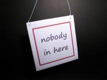Никто внутри здесь Стоковое Фото