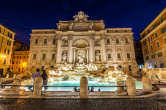Никто на известной Фонтане di trevi в Риме, Италии Стоковое Изображение
