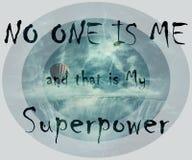 НИКТО Я и то моя высшая сила Стоковая Фотография RF