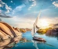 Нил и Асуан стоковые фотографии rf