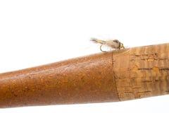 Нимфа уха зайцев на мухе штанге Стоковое Изображение