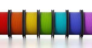 нити принтера 3D иллюстрация 3d Стоковые Изображения