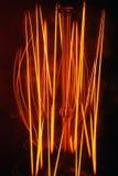 Нить в старомодной электрической лампе Стоковые Фото