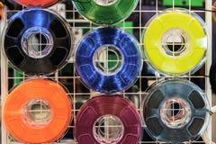 Нить для печатания 3d: 6 катушек термопластикового стоковое изображение rf