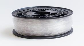 Нить для кристалла принтера 3D - ясной яркой предпосылки стоковые фотографии rf