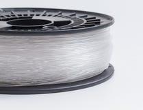 Нить для кристалла принтера 3D - ясной яркой предпосылки стоковая фотография