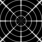 Нитяный крест или цель снайпера белые на черной предпосылке Стоковые Изображения