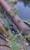 Нищета в реке стоковое изображение rf