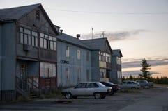 Нищета и плохое 2-storeyed здание Стоковое Изображение