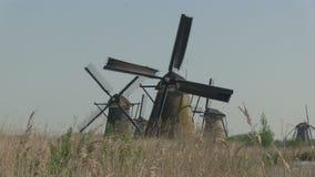 нидерландские ветрянки сток-видео