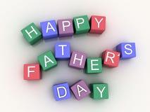 дни счастливого Fatherизображения 3d Стоковая Фотография
