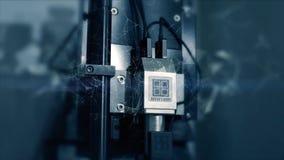 Новаторские технологии в науке и медицине микроскоп Высок-техника Мультимедиа приборы оптически микроскоп сверх-техника Стоковые Изображения