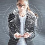 Новаторские технологии в науке и медицине Технология, который нужно соединиться Концепция безопасности стоковая фотография rf