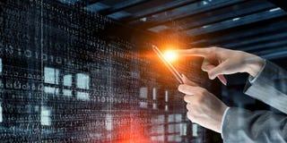 Новаторские технологии в пользе Мультимедиа стоковое изображение