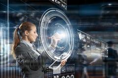 Новаторские технологии средств массовой информации в пользе Мультимедиа Стоковое фото RF