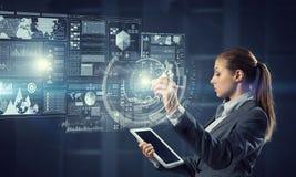 Новаторские технологии средств массовой информации в пользе Мультимедиа Стоковая Фотография RF