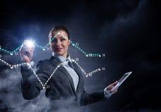 Новаторские технологии средств массовой информации в пользе Мультимедиа Стоковое Изображение