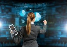 Новаторские технологии средств массовой информации в пользе Мультимедиа Стоковые Фотографии RF