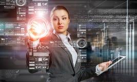 Новаторские технологии средств массовой информации в пользе Мультимедиа Стоковые Изображения RF