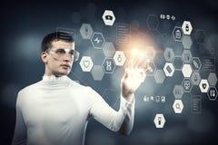 Новаторские технологии в медицине Мультимедиа стоковые изображения