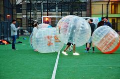 Новаторский футбол Манхэттен Нью-Йорк пузыря Стоковые Изображения