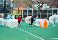 Новаторский футбол Манхэттен Нью-Йорк пузыря Стоковое Фото