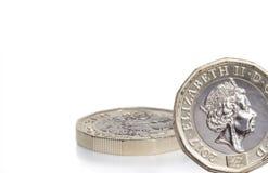 Новая английская монетка фунта Стоковые Фотографии RF