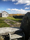 Новая Англия: лачуга сахара клена в падении v осени Стоковые Фото
