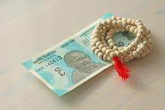 Новая банкнота Индии с деноминацией 50 рупий индийско стоковое изображение