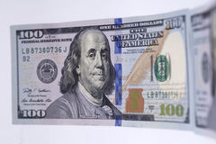 Новая банкнота 100 долларов Стоковая Фотография RF