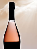 Новая бутылка розового шипучего напитк вина Стоковое фото RF