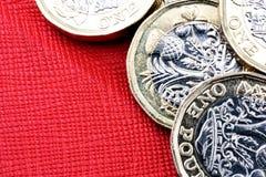 Новая Великобритания одна валюта монетки фунта Стоковое Изображение RF