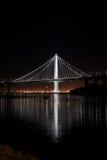 Новая восточная пядь съемки ночи моста залива Стоковые Фото