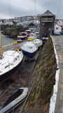 Новая гавань Уэльс набережной Стоковое фото RF