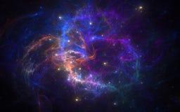 Новая галактика иллюстрация вектора