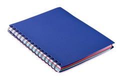 Новая голубая тетрадь с кольцами на белизне Стоковая Фотография RF