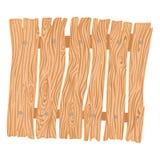 Новая деревянная загородка шаржа иллюстрация вектора