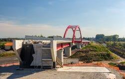 Новая железная дорога LGV Est высок-скорости около страсбурга Стоковое Изображение RF