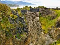 Новая Зеландия, утесы блинчика, южный остров Стоковое фото RF