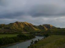 Новая Зеландия 7 - заход солнца Стоковое Изображение RF