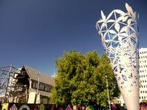 Новая Зеландия: Скульптура кубка собора Крайстчёрча английская Стоковые Фото