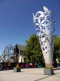 Новая Зеландия: Скульптура v кубка собора Крайстчёрча английская Стоковые Изображения RF