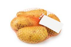 Новая картошка в сети изолированной на белизне Стоковые Изображения RF