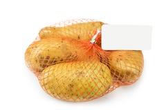 Новая картошка в сети изолированной на белизне Стоковое Изображение