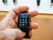 Новая кнопочная панель номера шкалы серии 3 вахты Яблока Стоковое Изображение RF
