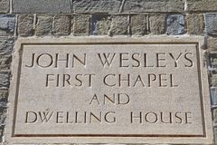 Новая комната или часовня Джона Wesleys первая стоковое изображение