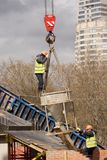 Новая конструкция моста Стоковые Изображения
