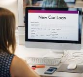 Новая концепция бюджета предохранения от полиса страхования автокредита Стоковое Изображение