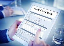 Новая концепция бюджета предохранения от полиса страхования автокредита Стоковое фото RF