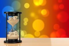 Новая концепция 2018 год Песок падая в часы принимая Shap Стоковая Фотография